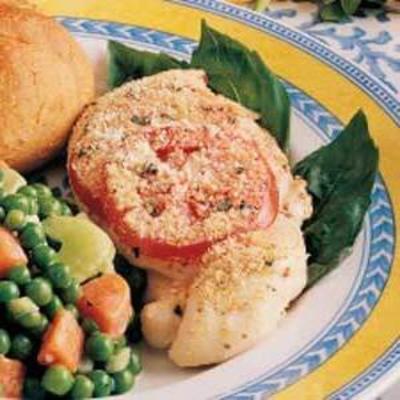 frango com cobertura de tomate