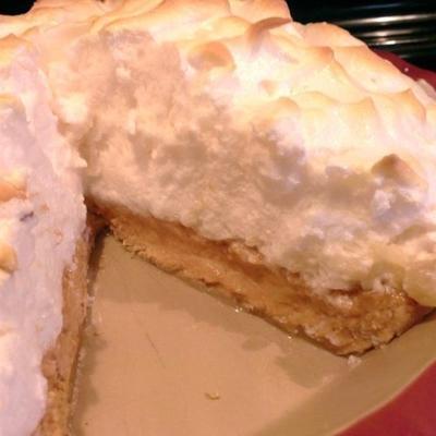 torta de merengue de manteiga de amendoim