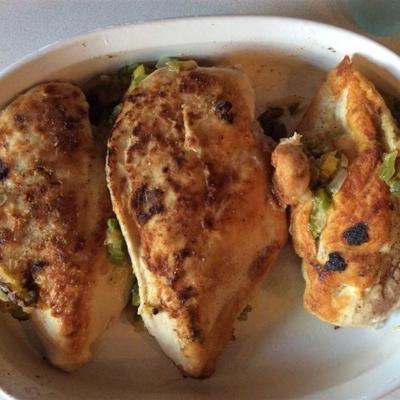 peitos de frango recheados de abóbora