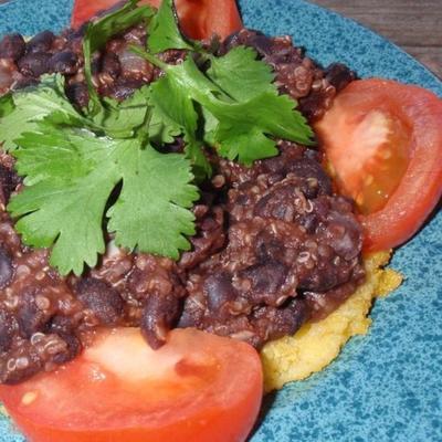 tacos de feijão preto quinoa (vegan)