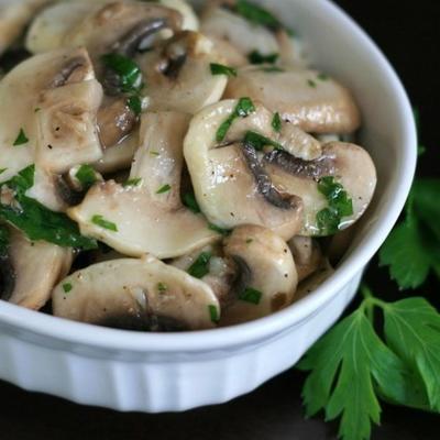 salada de cogumelos vegan