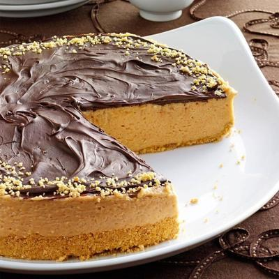 torta de queijo de manteiga de amendoim