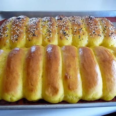 rolos de sanduíche de abóbora