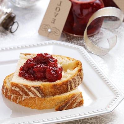 geléia de cranberry feriado