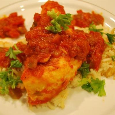 frango cozido salsa