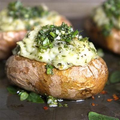 chimichurri batatas assadas duas vezes