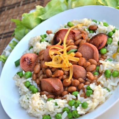tigela de arroz de feijão e feijão