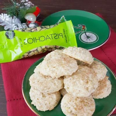 biscoitos de pistache e coco