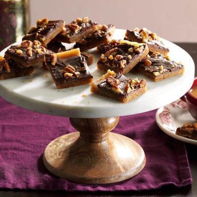 crocantes de chocolate com caramelo