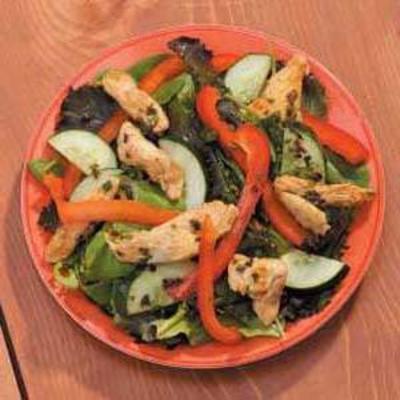 salada de frango temperada
