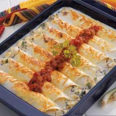makeover enchiladas de alabote cremoso