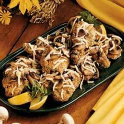 frango amêndoa de cogumelos