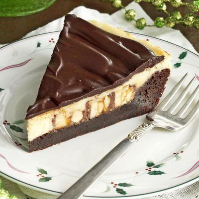 torta de chocolate cheesecake de brownie