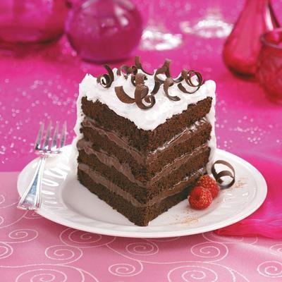 torta tripla de chocolate