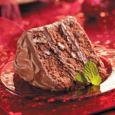 bolo de creme de chocolate italiano