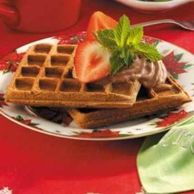 waffles de brunch de chocolate