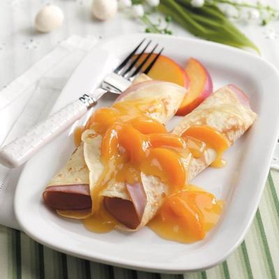 presunto queijo crepes