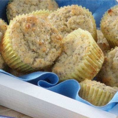 muffins de limonada de semente de papoula