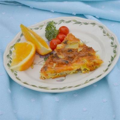 hash de carne enlatada quiche crustless