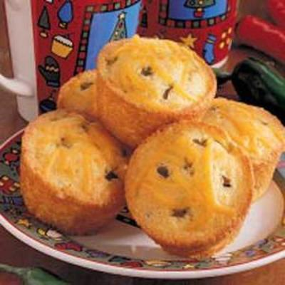 muffins de milho verde chili
