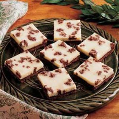 Barras cheesecake preto e branco