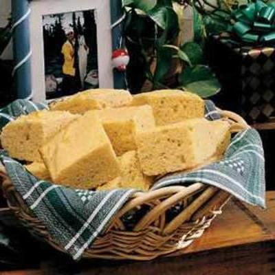 pão de milho com creme azedo