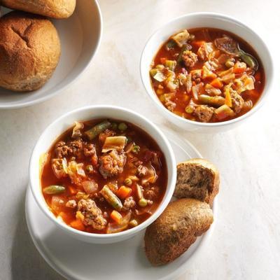 Sopa de vegetais fácil do pop pop