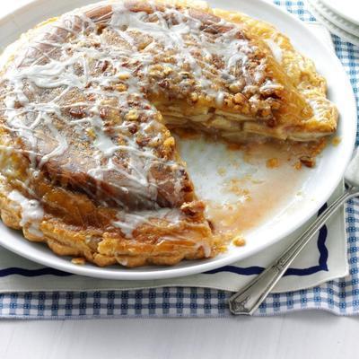 torta de maçã de cabeça para baixo