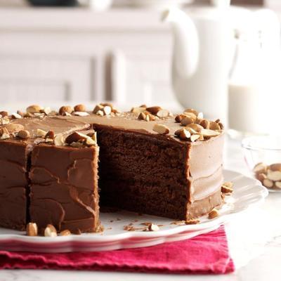 bolo de comida do diabo temperado