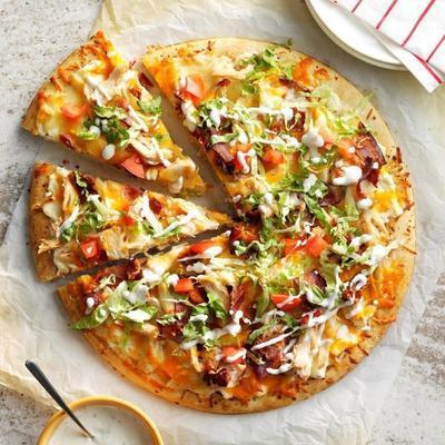 pizza de bacon frango clube com chuvisco rancho