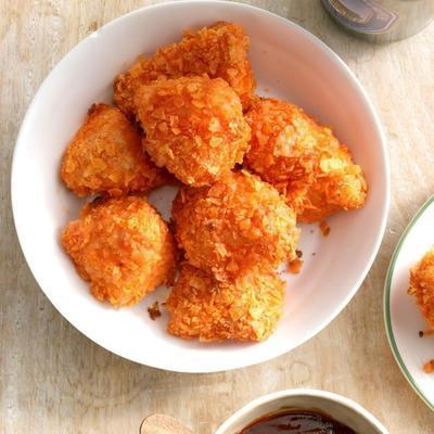pedaços de frango assado