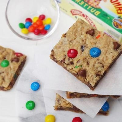 barras de cookie de monstro