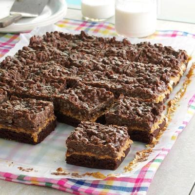 barras de chocolate e manteiga de amendoim goody