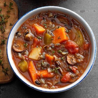 sopa de legumes picante lenta