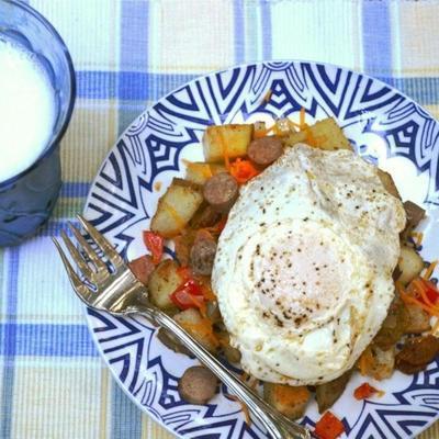 frigideira de batata saudável