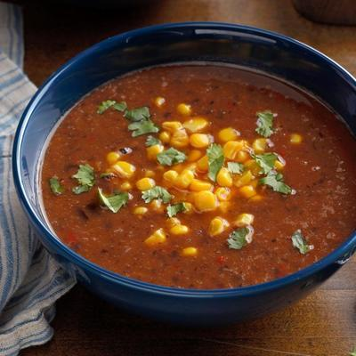 sopa de feijão preto fogão lento