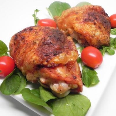 coxas de frango assado crocante