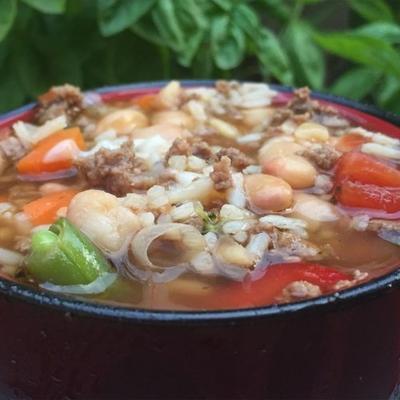 sopa rápida de arroz italiano