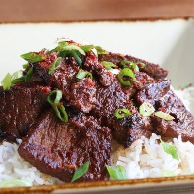 carne de bulgogi (churrasco de estilo coreano)