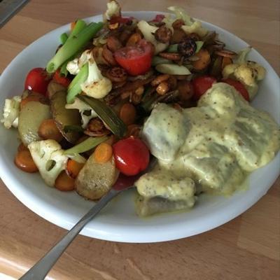 salada de macarrão hummus