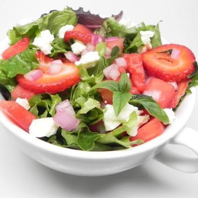salada de melancia doce e apimentada
