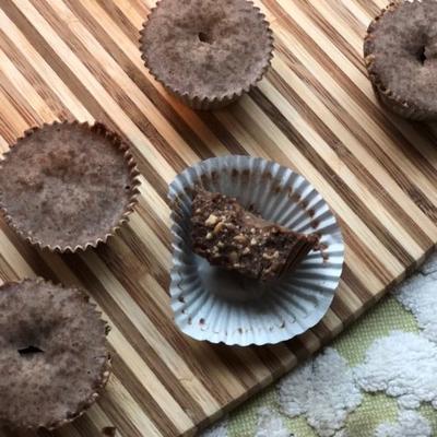 bombas cetonas de chocolate e laticínios veganas