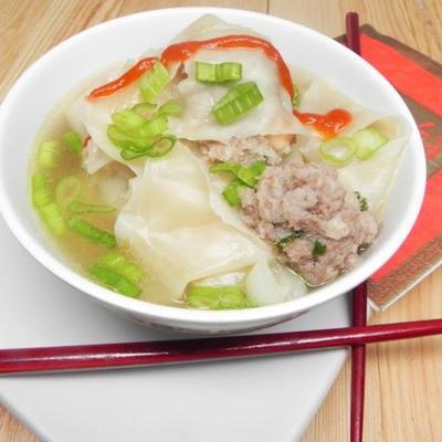 wonton de camarão chinês