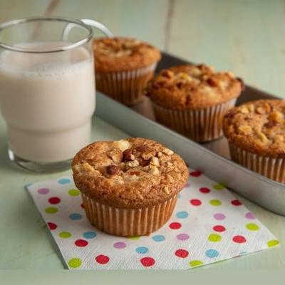 muffins de queijo creme de maçã canela