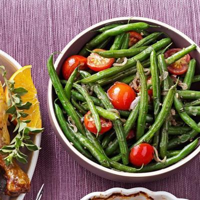 feijão verde com tomates das ervas 'n'