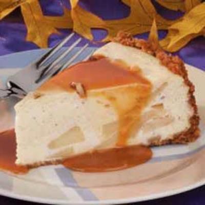 cheesecake de maçã caramelada