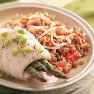 Caçarola de lentilha e arroz integral