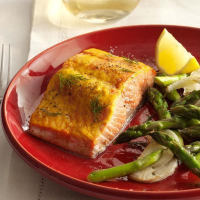 salmão mostarda doce