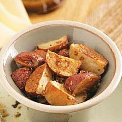 batatas assadas com rábano e mostarda