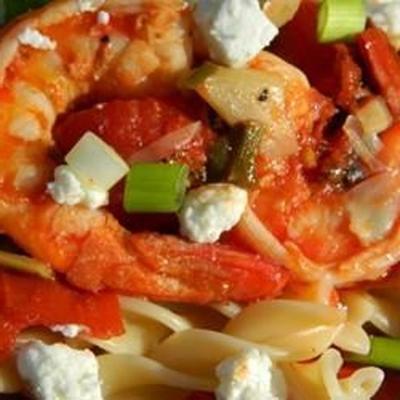 camarão primavera com queijo de cabra